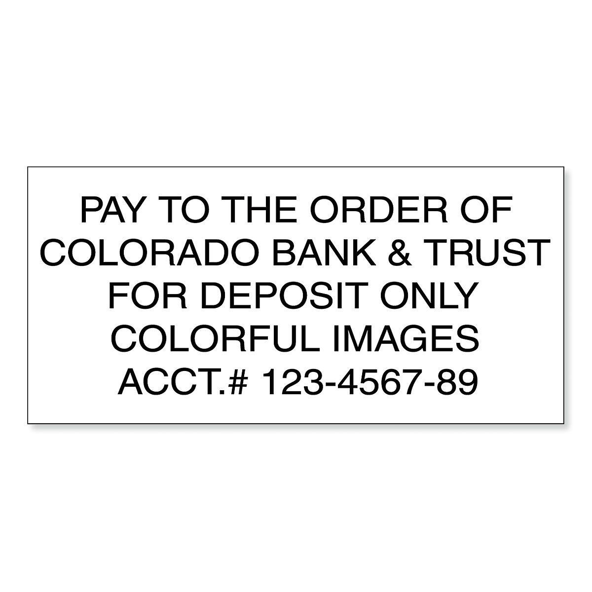 Deposit Pre-Inking Address Stamp