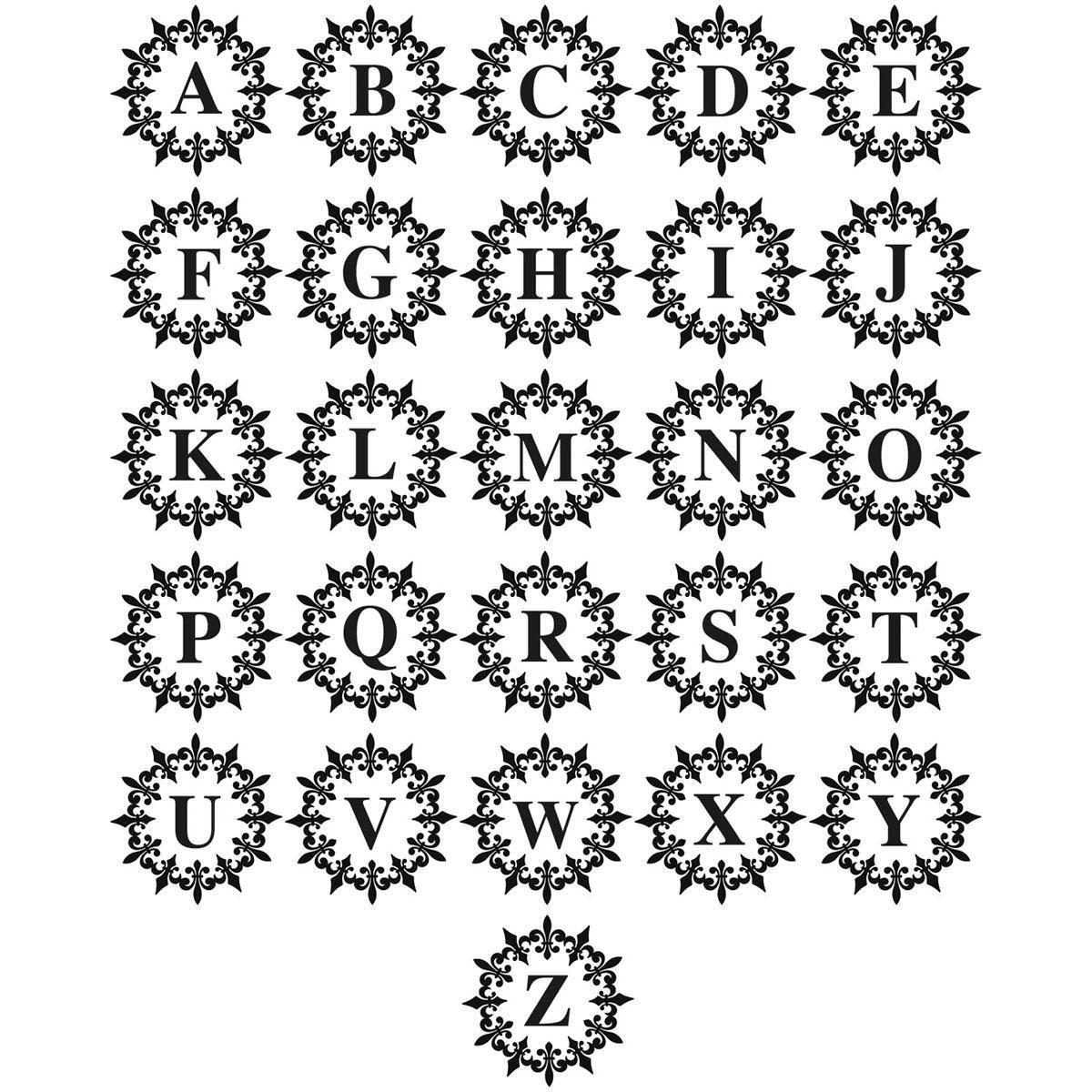 Round Initial Stamper - Fleur de Lis