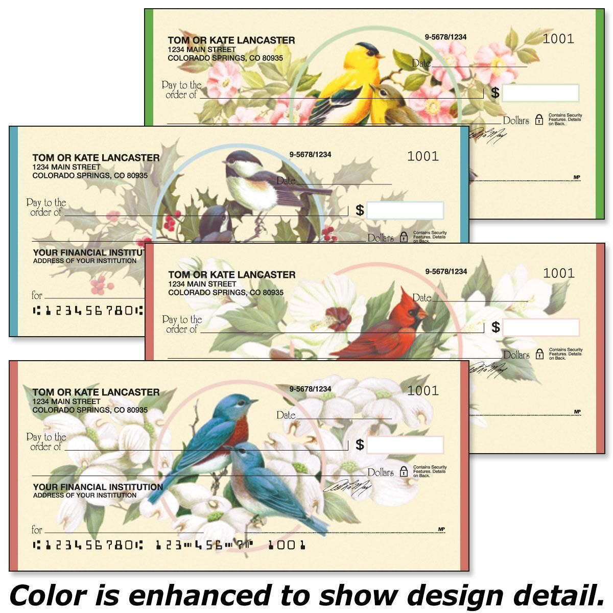 Birds & Blossoms Single Checks