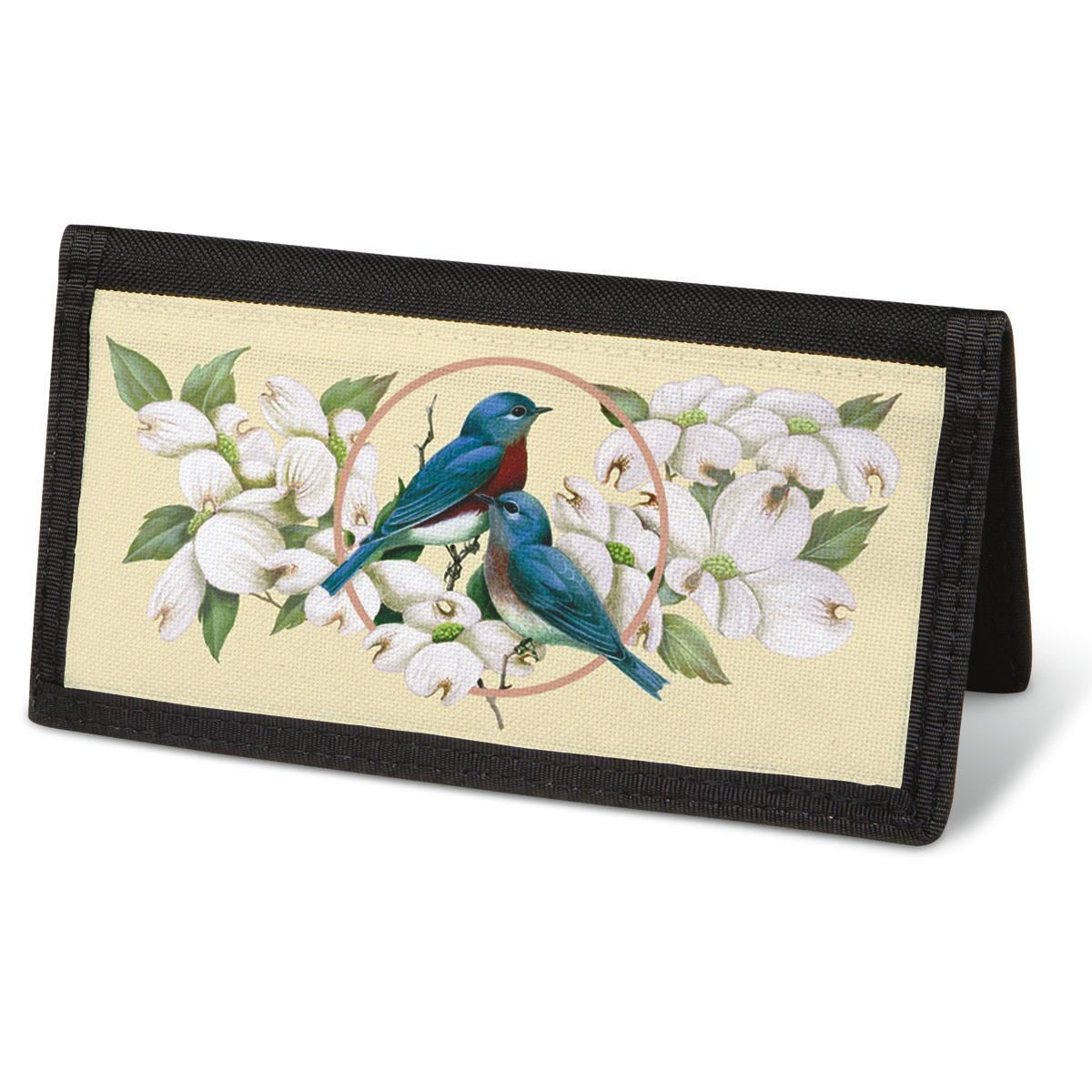 Birds & Blossoms  Checkbook Cover - Non-Personalized