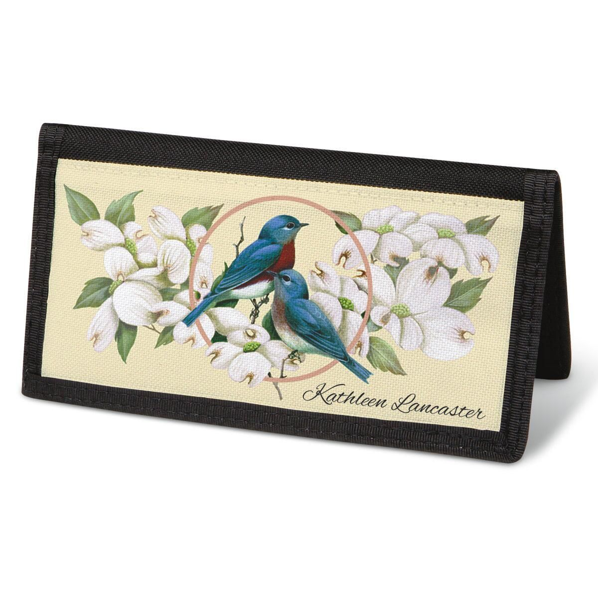 Birds & Blossoms  Checkbook Cover - Personalized