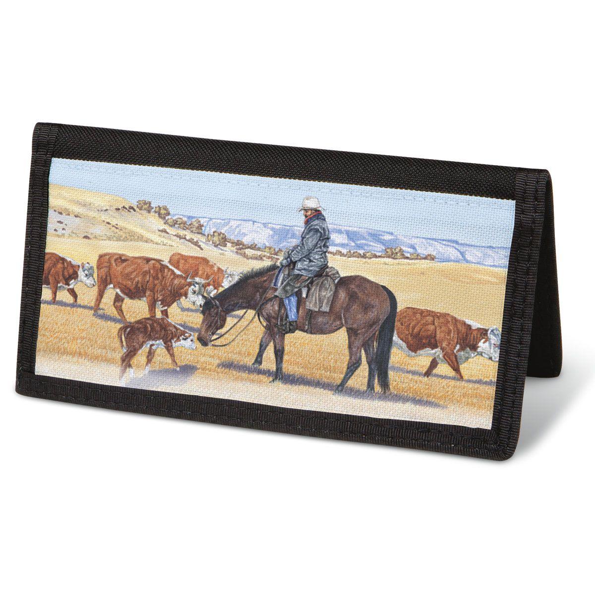 Cowboy  Checkbook Cover - Non-Personalized