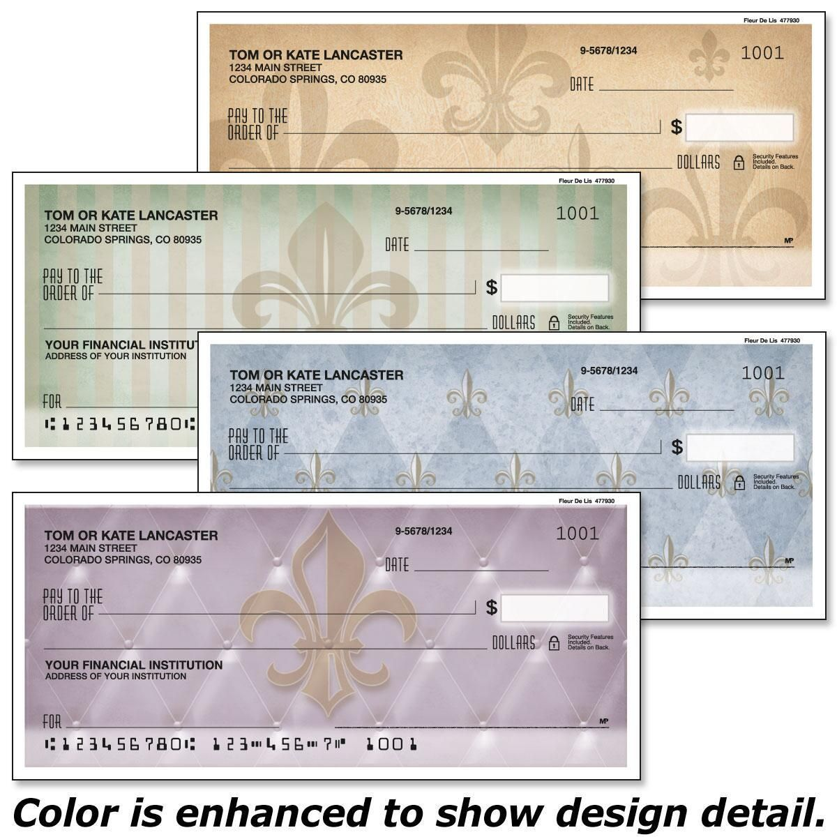 Bronze Fleur De Lis Single Checks