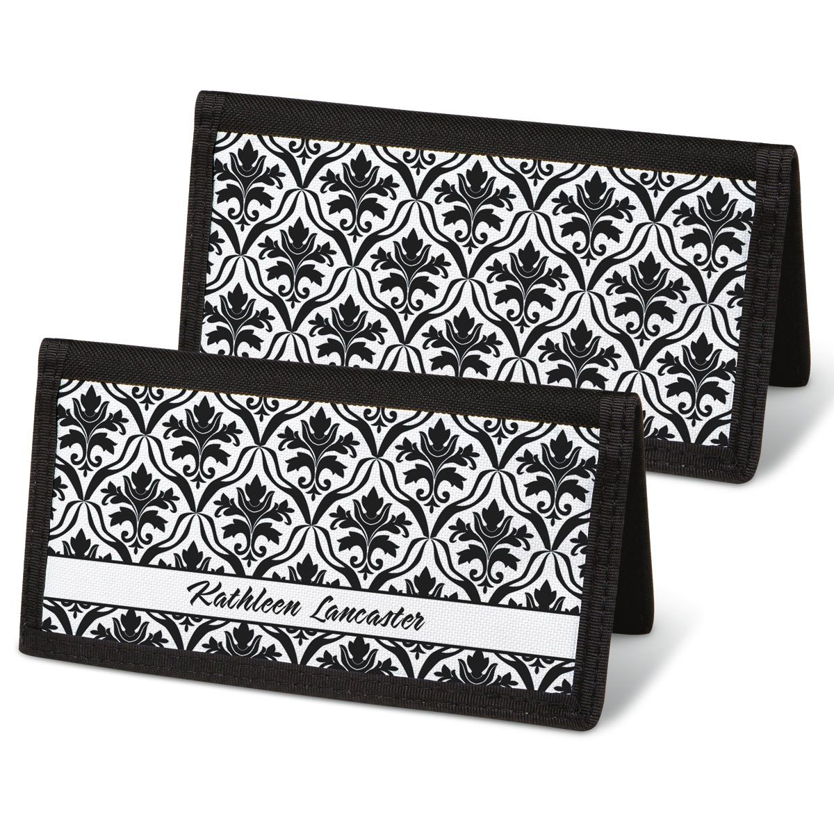 Elegant in Black  Checkbook Covers