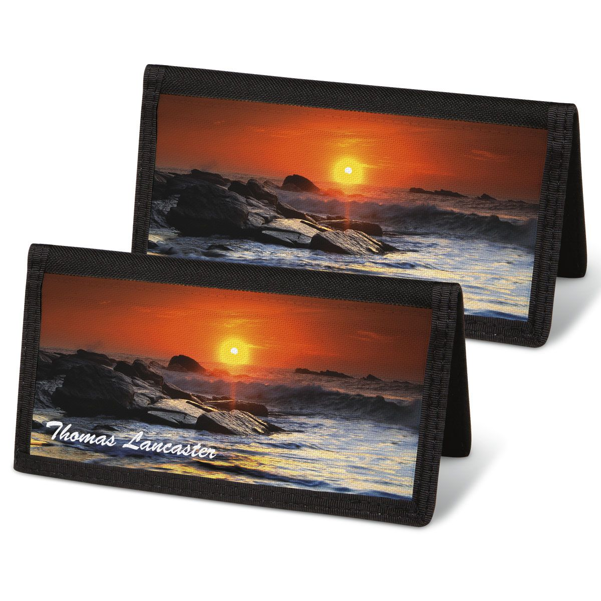 Dramatic Shores  Checkbook Covers