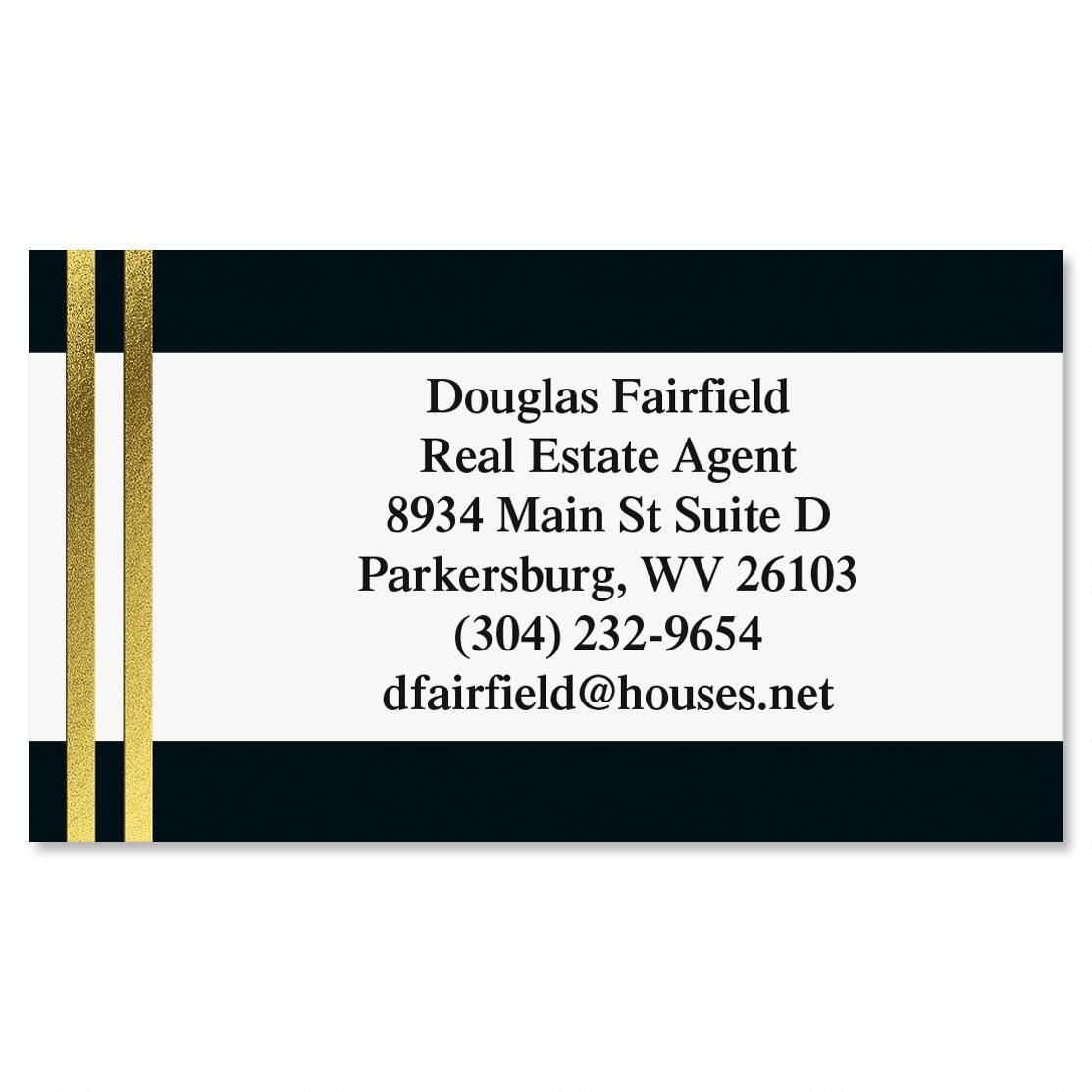 Black & Double Gold Foil Calling Cards