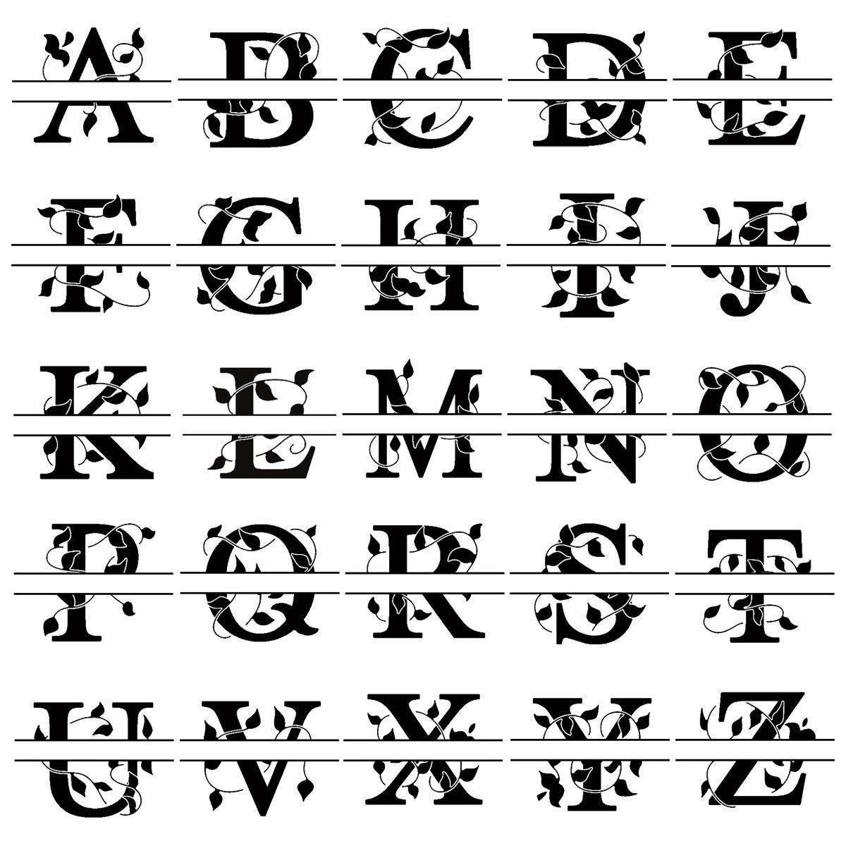 Last Name Monogram Round Self-Inking Address Stamp