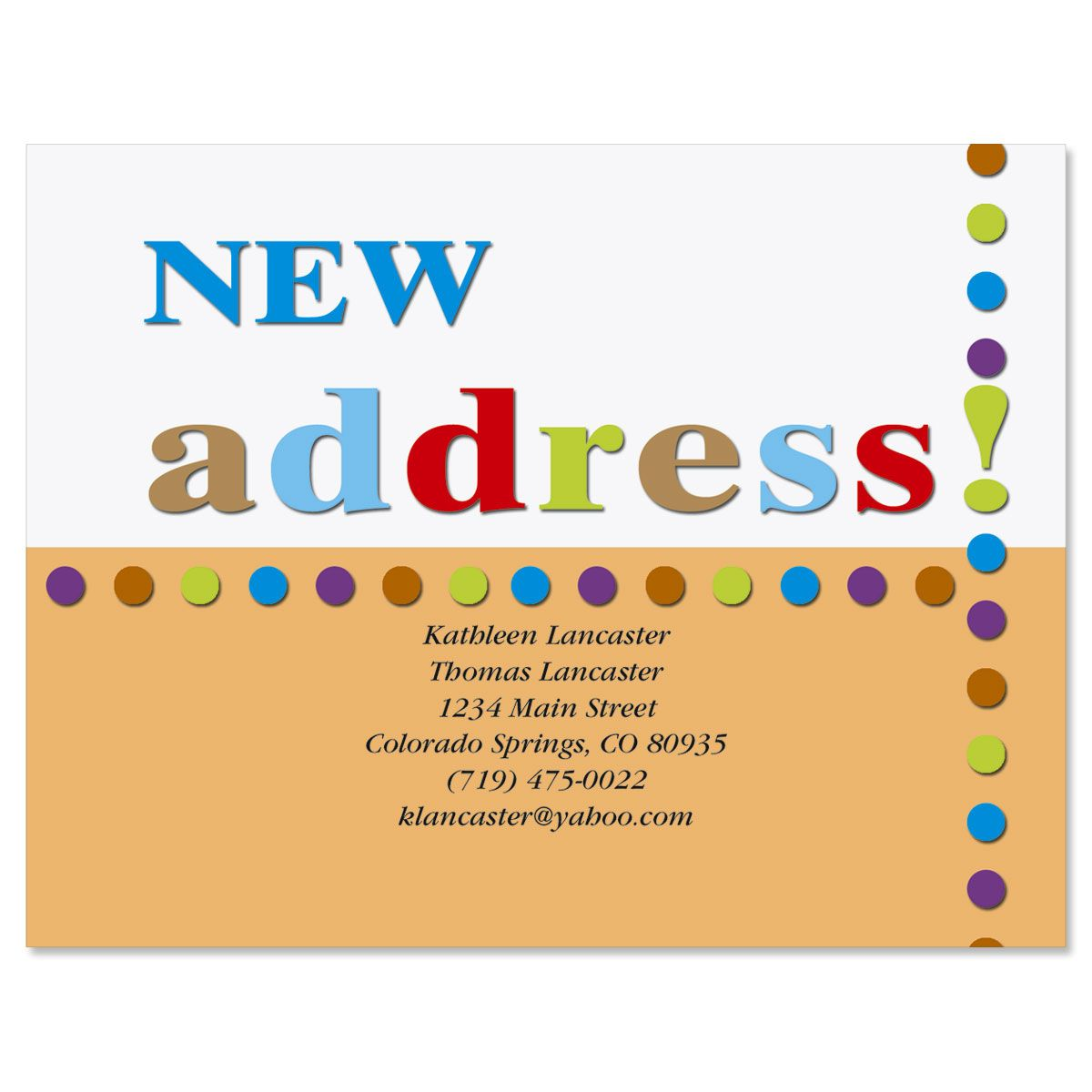 New Address! New Address Postcards