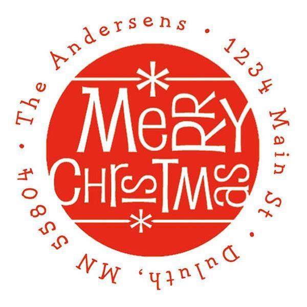 Merry Christmas Fun Self-Inking Stamps