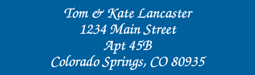 Solid Color Designer Rolled Address Labels - (Roll of 250)