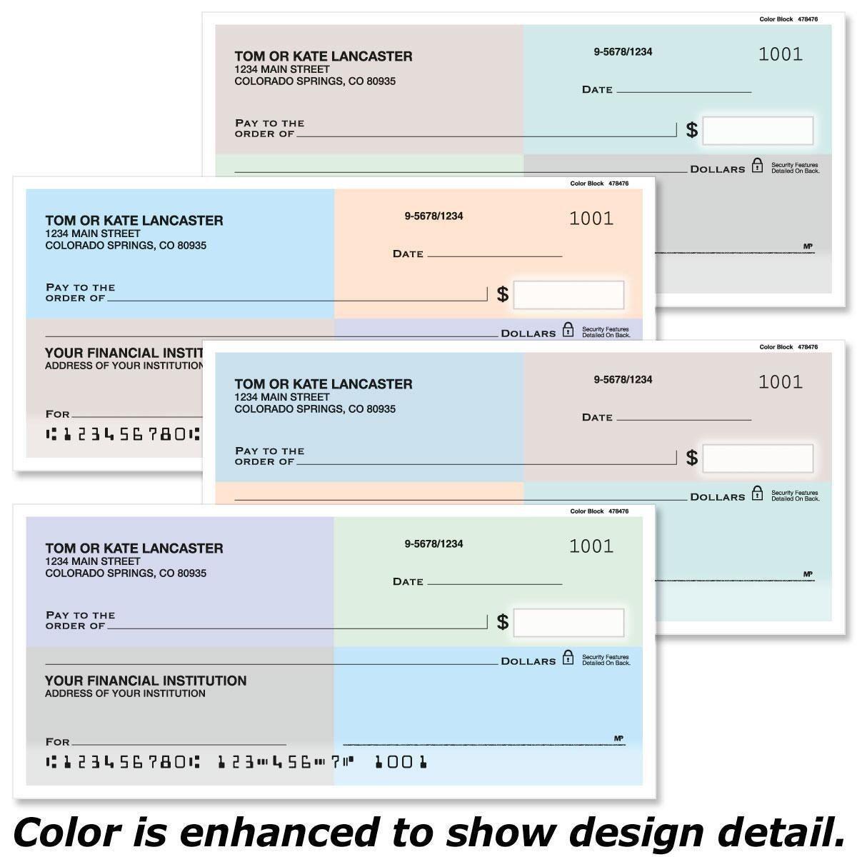 Color Block Single Checks