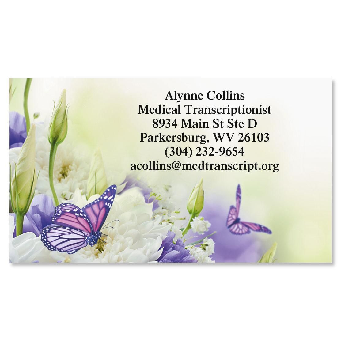 Butterfly Standard Calling Card