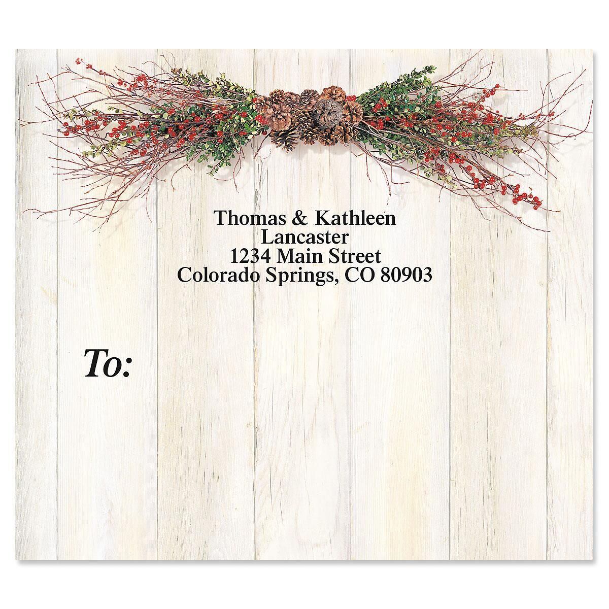 Twigs and Berries Mailing Package Label