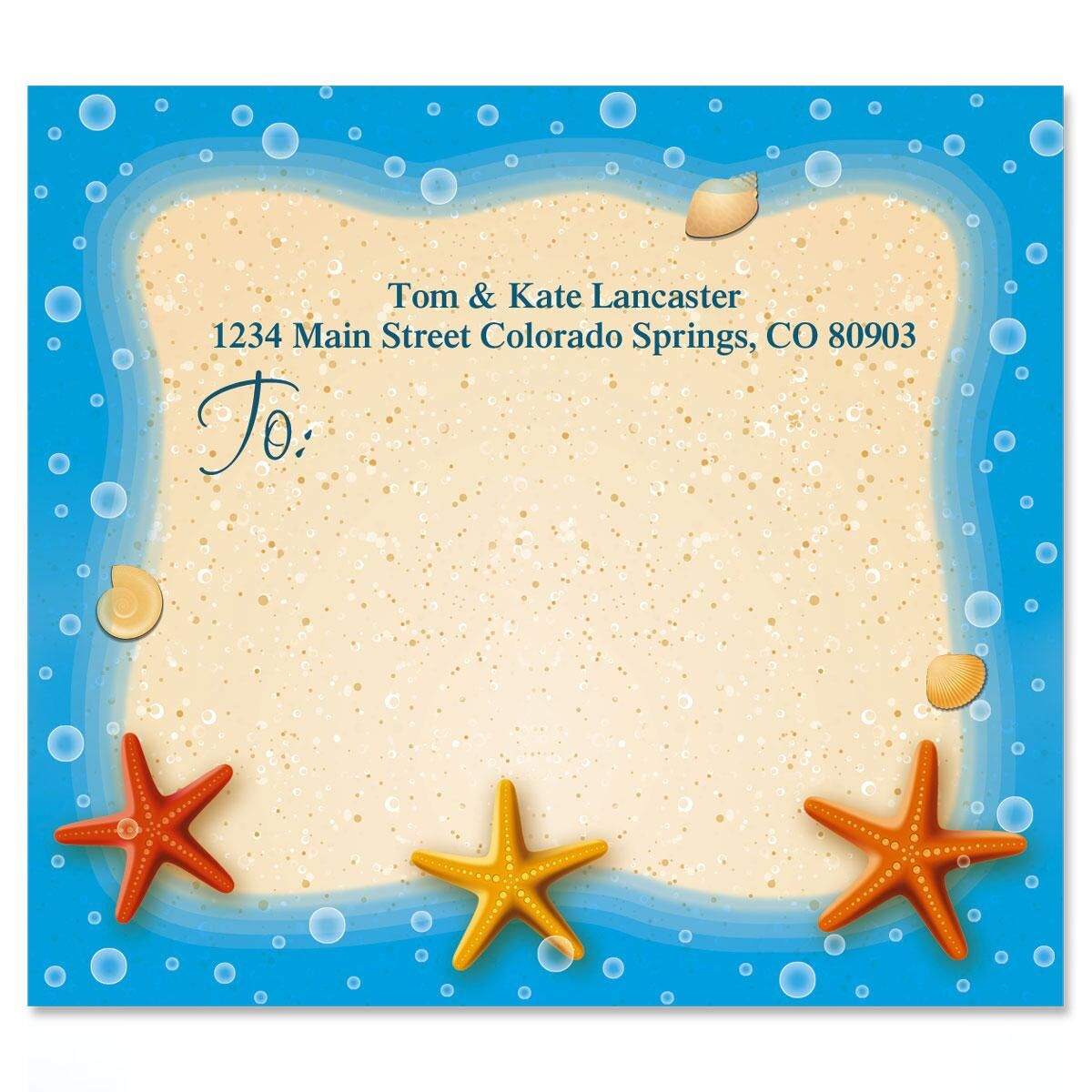 Starfish Trio Mailing Package Label