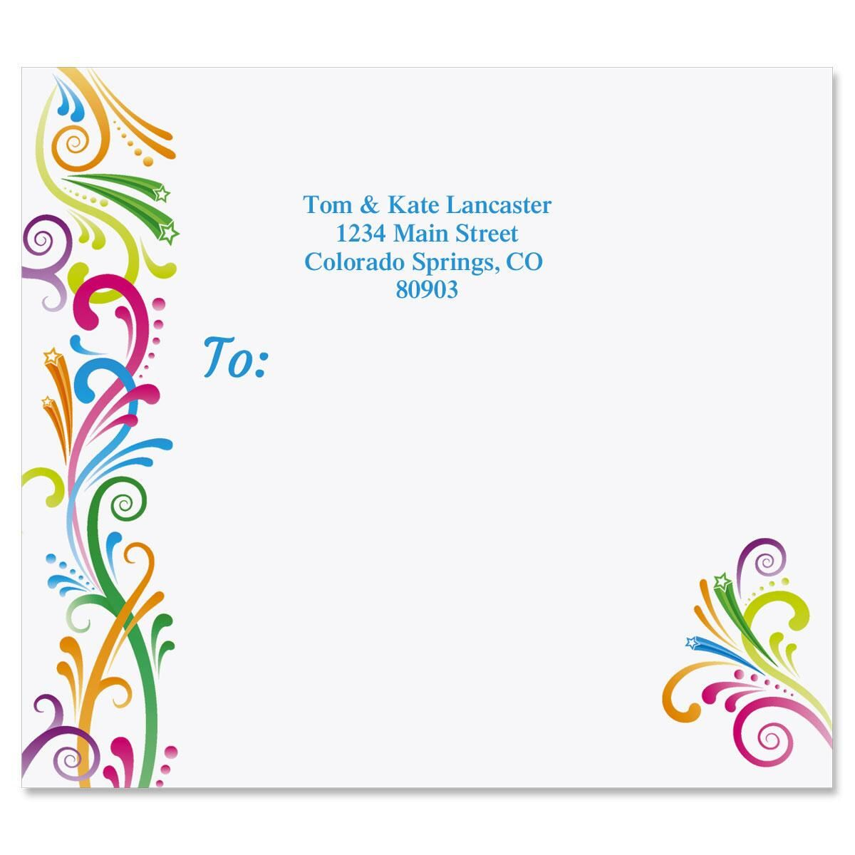 Party Spirit Mailing Package Label