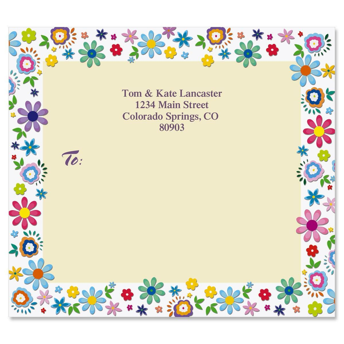 Cheerful Florals Mailing Package Label