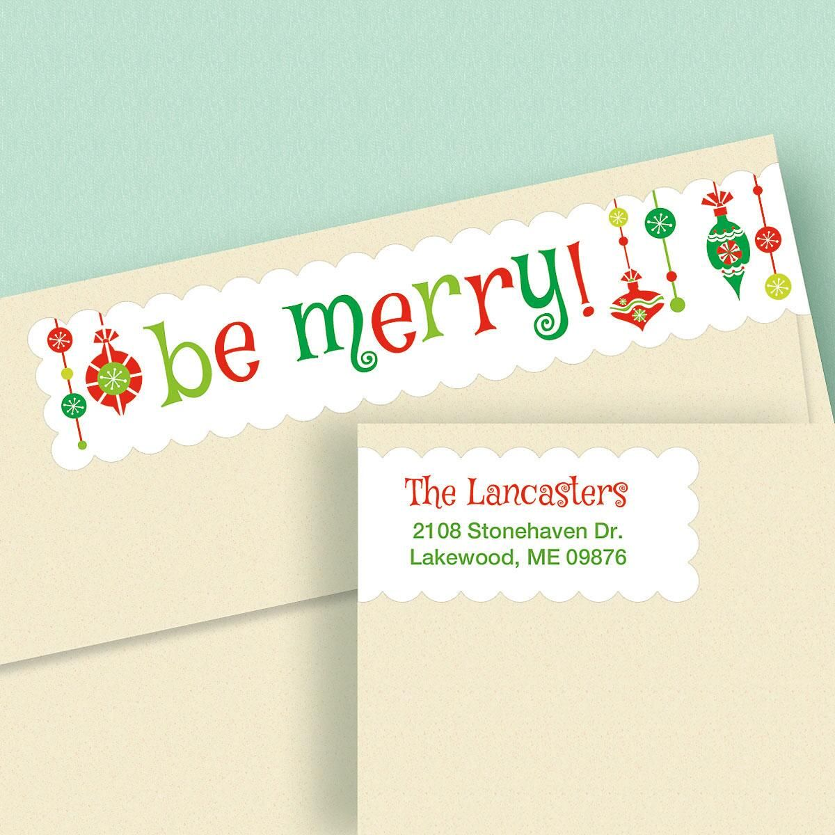 Be Merry Connect Wrap Around Diecut Address Labels