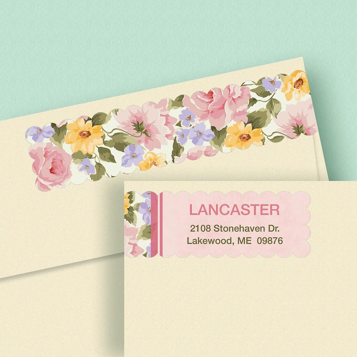 Garden Flair Connect Wrap Around Diecut Address Labels