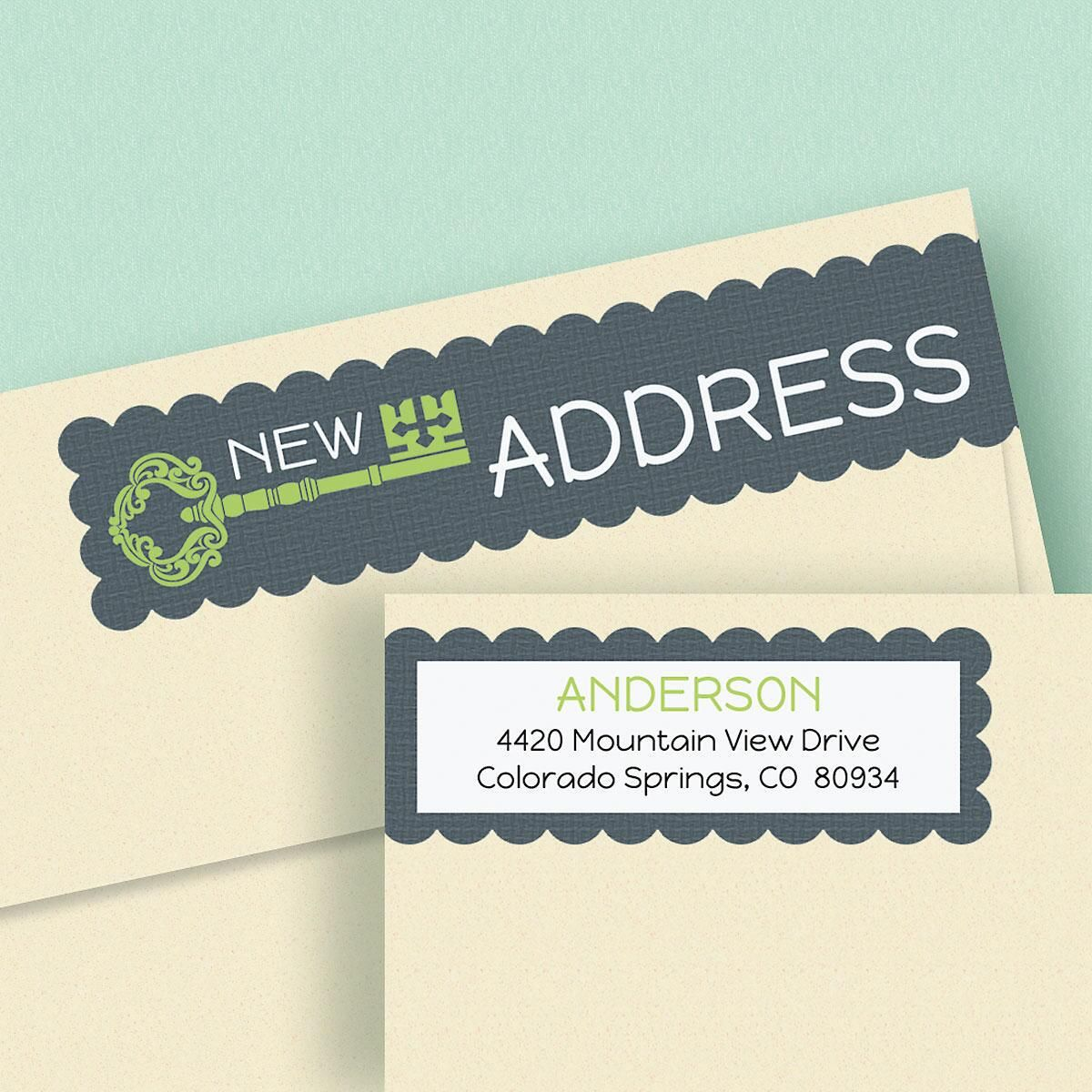New Pad Connect Wrap Around Diecut Address Labels