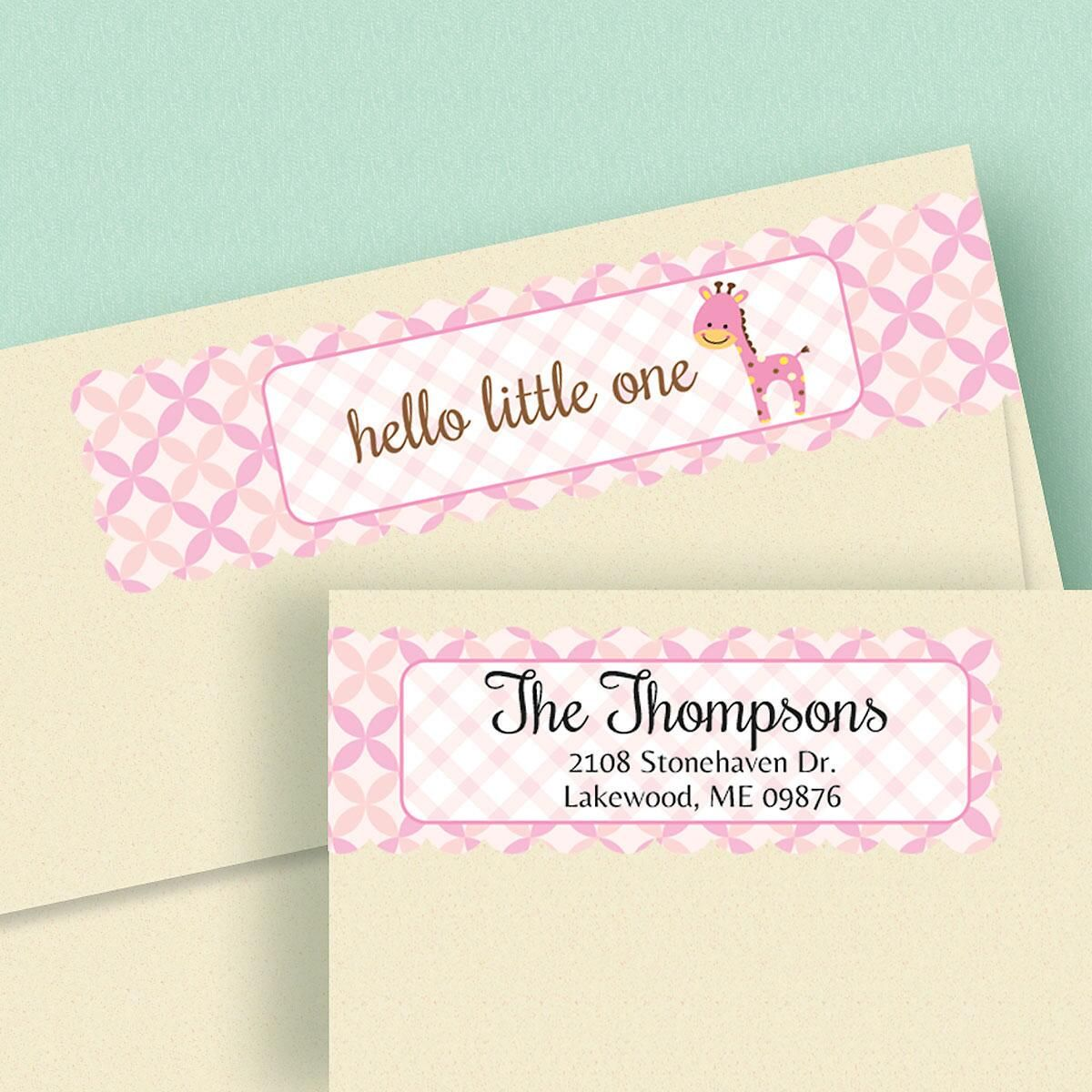 Delightful Baby Connect Wrap Around Diecut Address Labels  (4 Designs)
