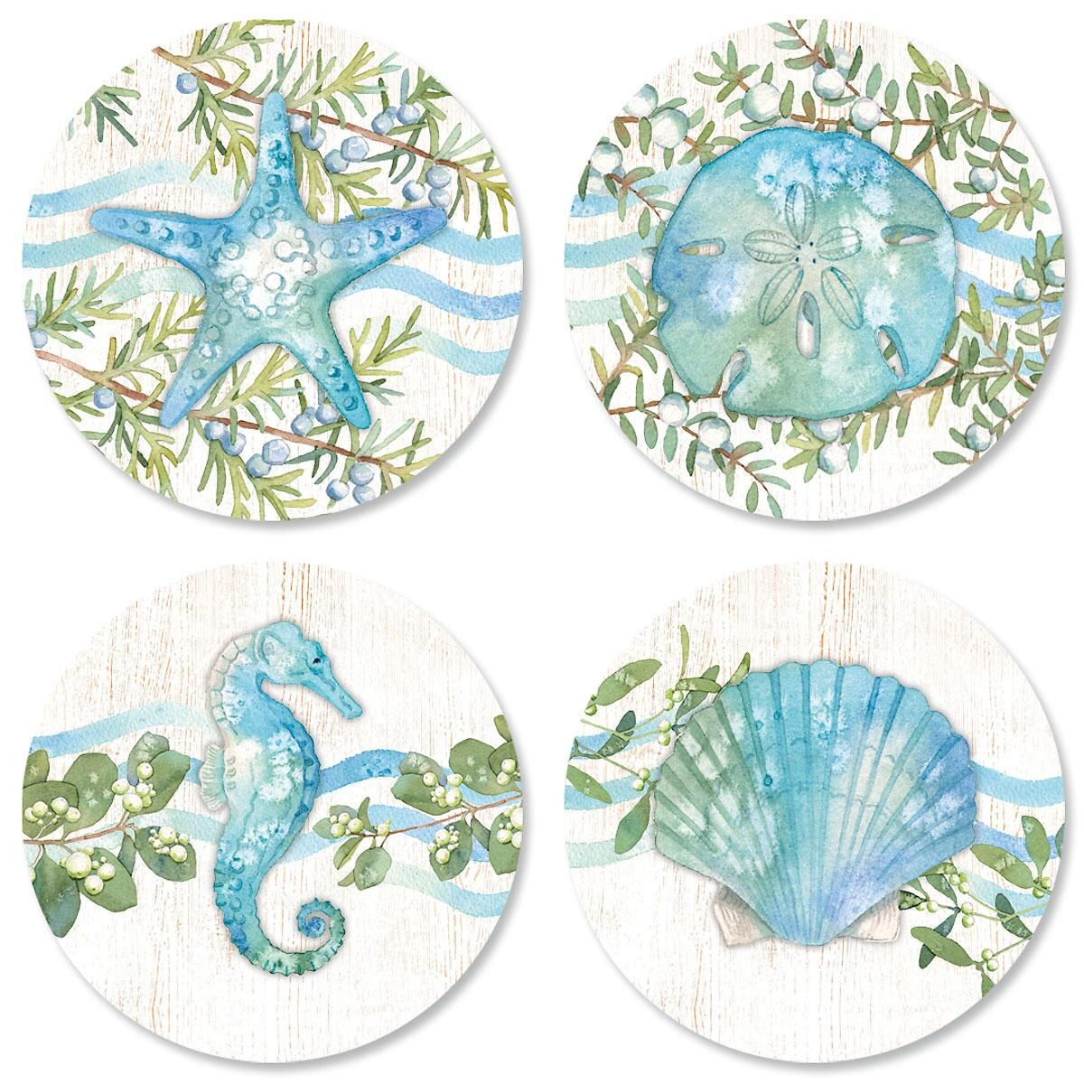 Ocean Tide Envelope Sticker Seals