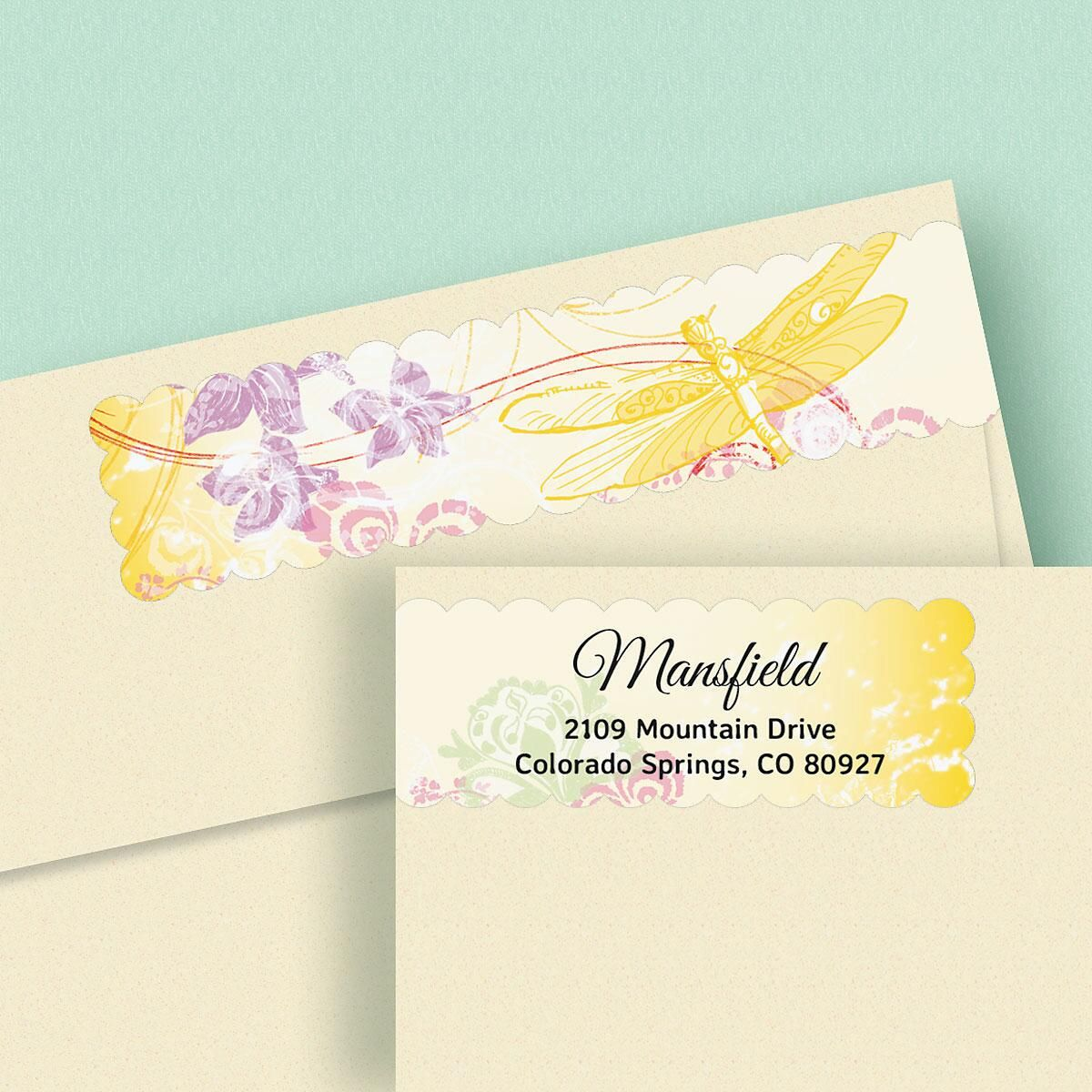 Seasons Connect Wrap Around Diecut Address Labels  (4 Designs)