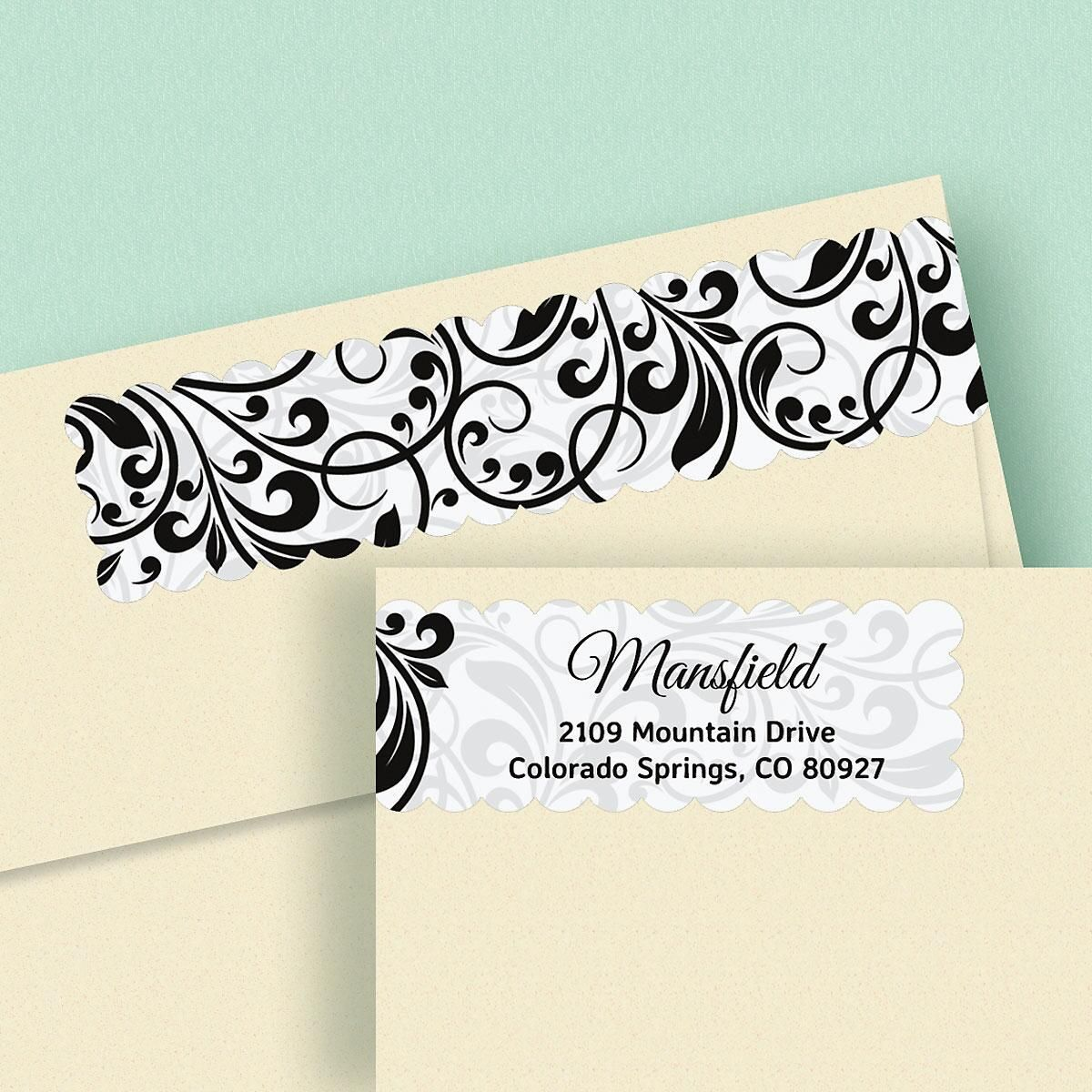 Refined Connect Wrap Around Diecut Address Labels