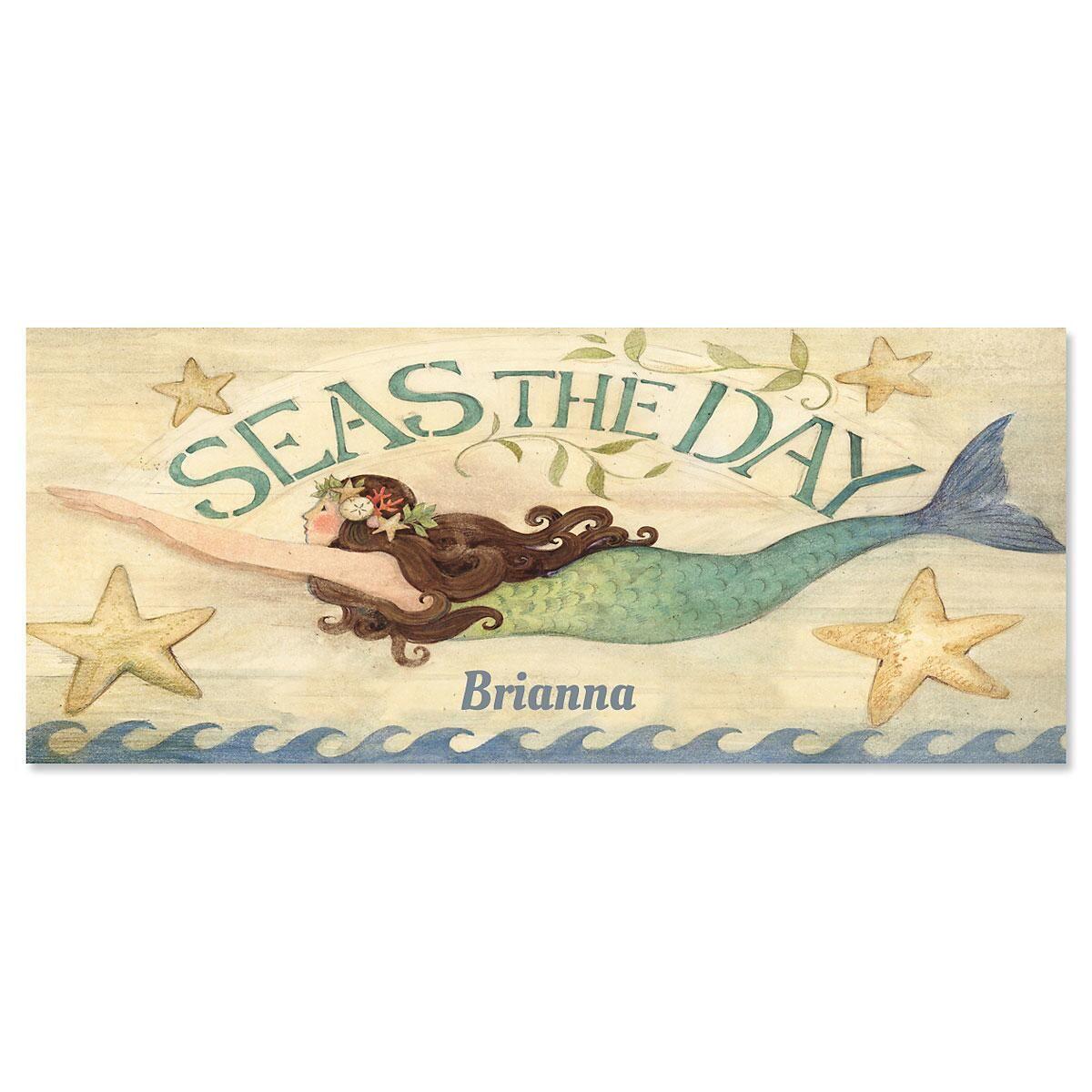 Seas The Day Slimline Custom Note Cards