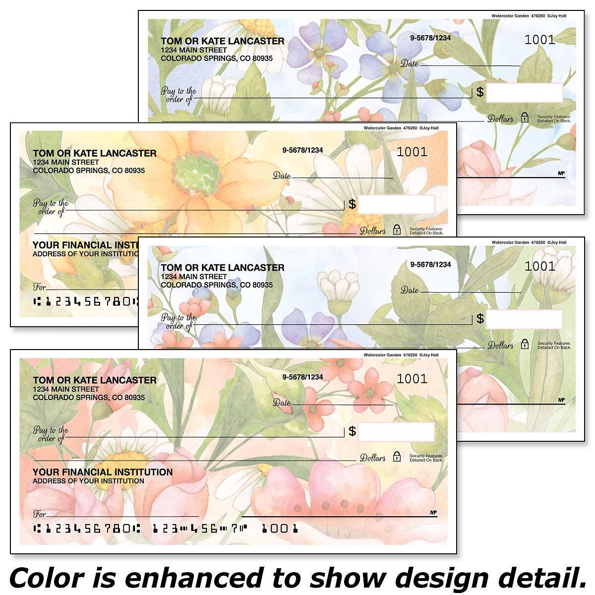 Watercolor Garden Single Checks