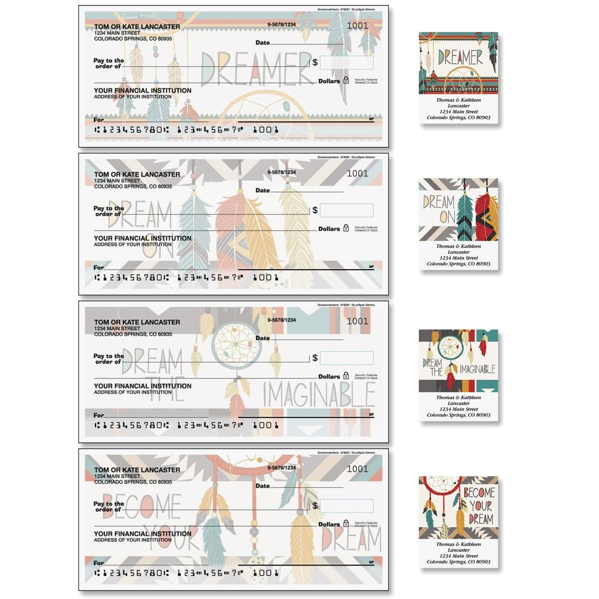 Cozy Comforts Duplicate Checks with Matching Labels