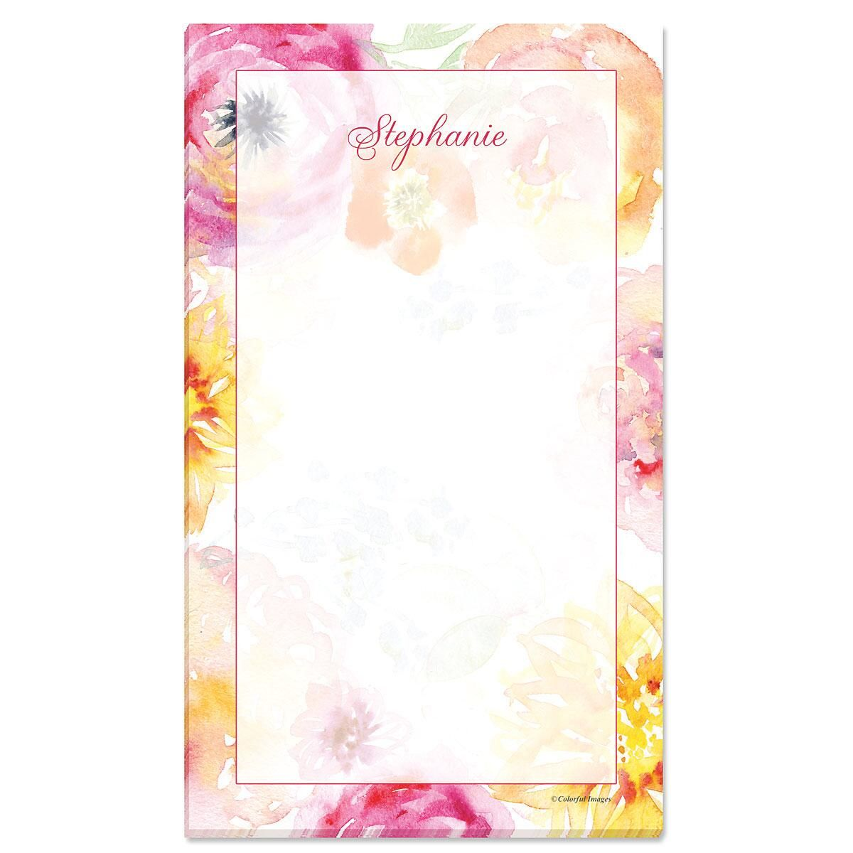 Pretty Posy Custom Memo Pads