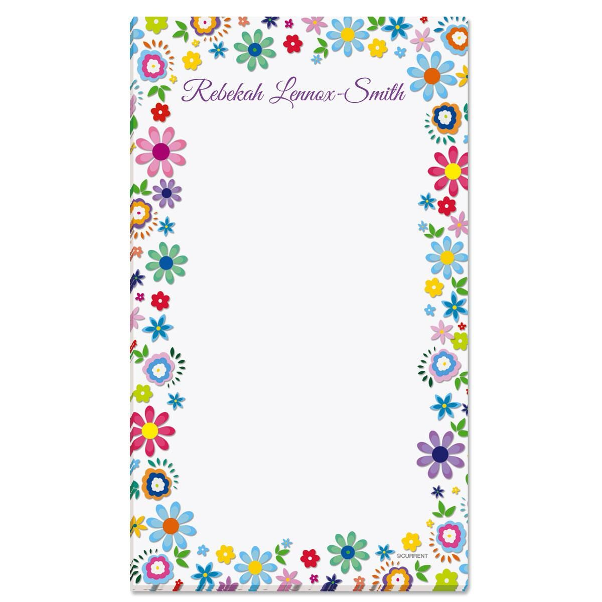 Cheerful Florals Custom Memo Pads