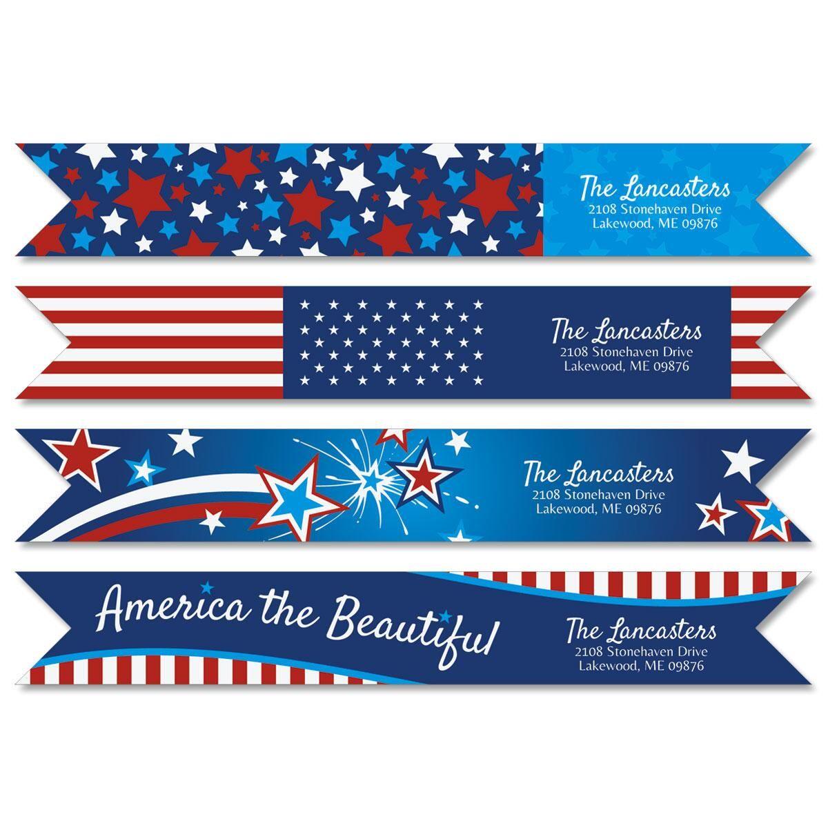 Allegiance Wrap Around Address Labels  (4 Designs)