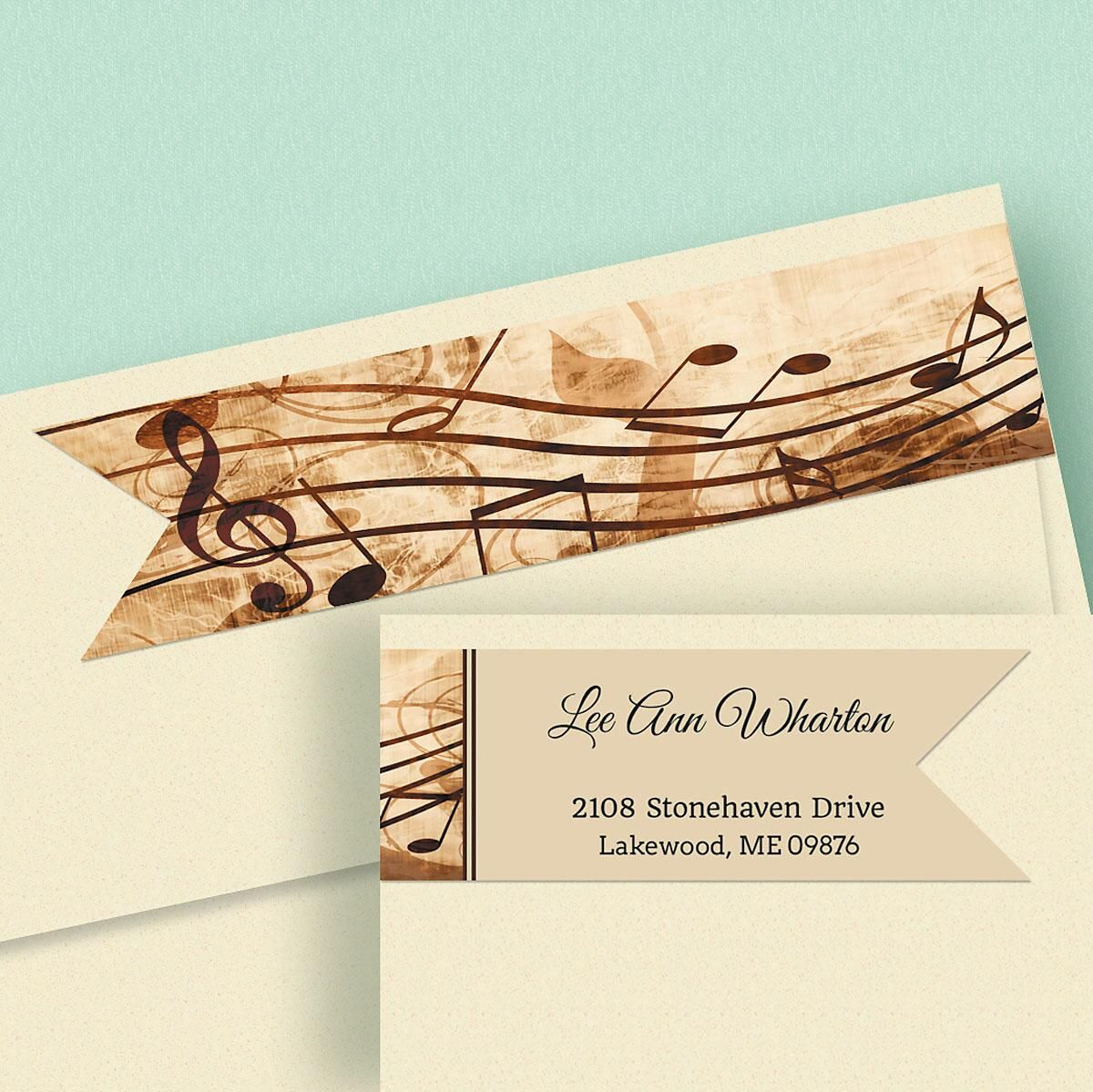 Sheet Music Connect Wrap Around Diecut Address Labels