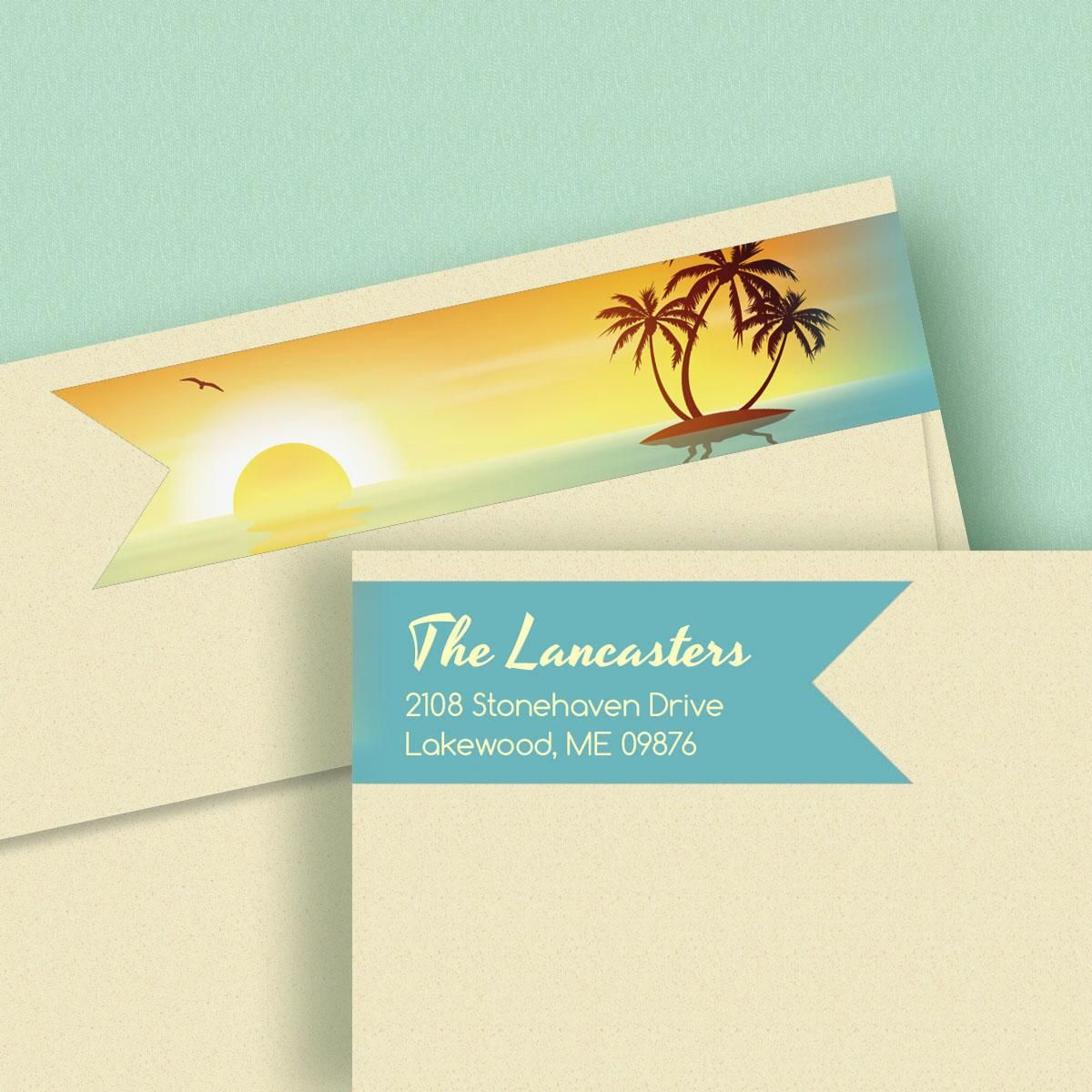 Tradewinds Wrap Around Address Labels  (4 Designs)
