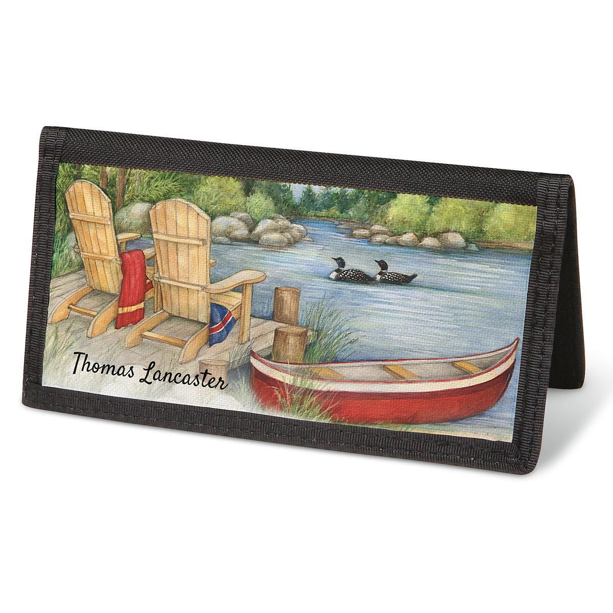 Lakeside Checkbook Cover - Personalized