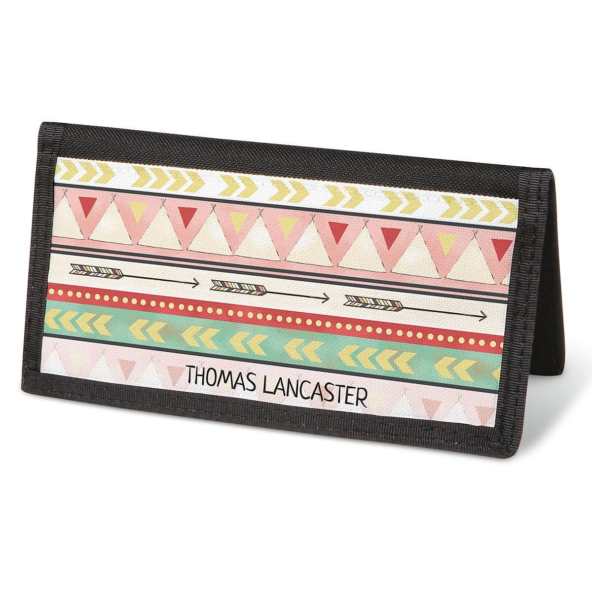 Urban Tribal  Checkbook Cover - Personalized