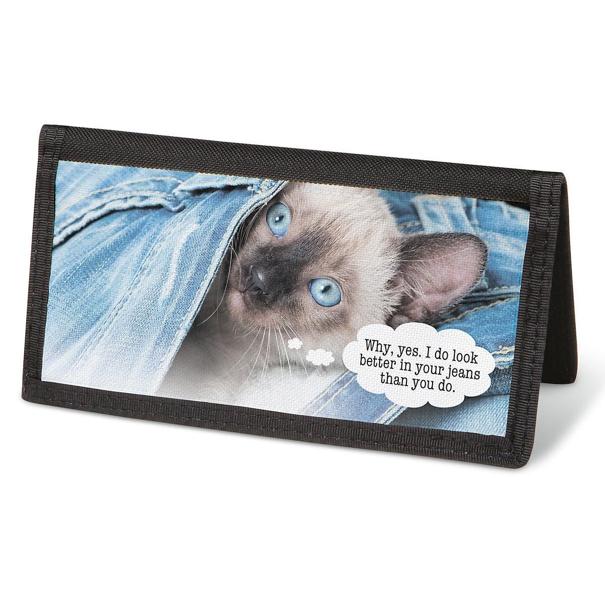 Cattitudes  Checkbook Cover - Personalized