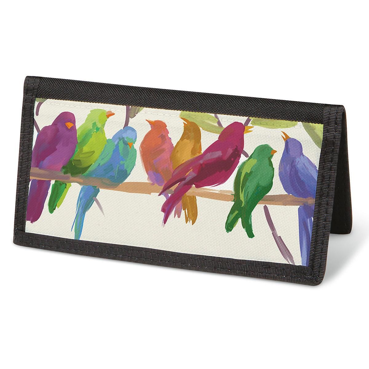 Flocked Together  Checkbook Cover - Non-Personalized