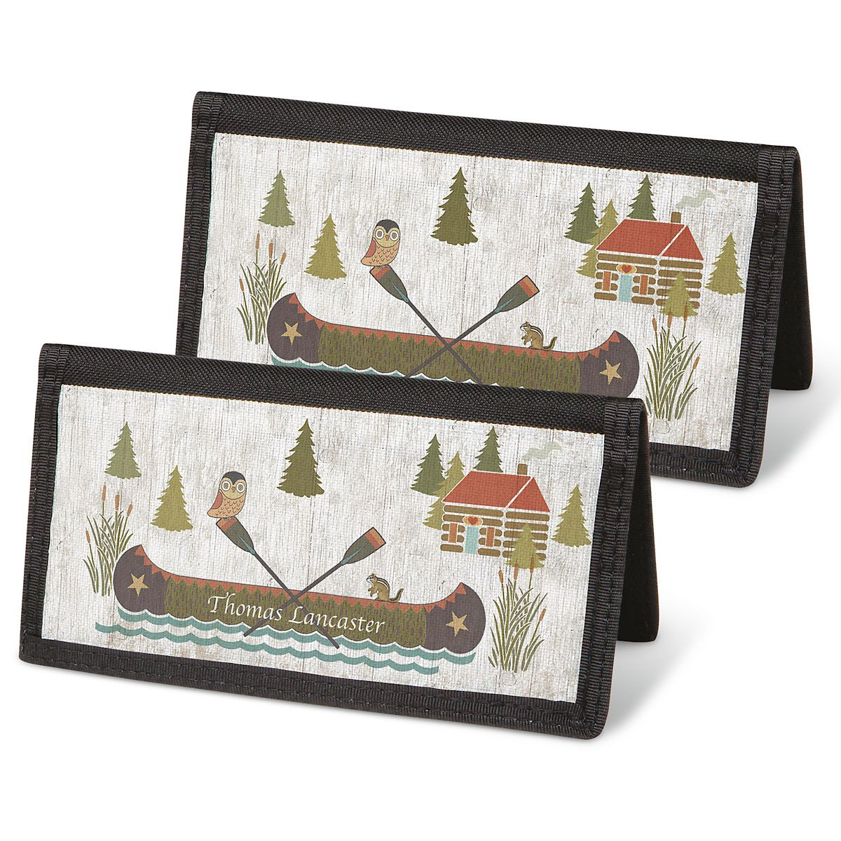 Woodland Lodge Checkbook Covers