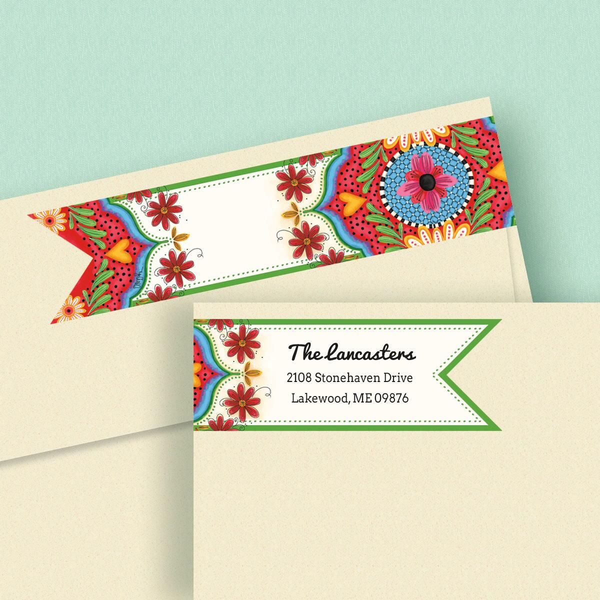 Spanish Flair Wrap Around Address Labels