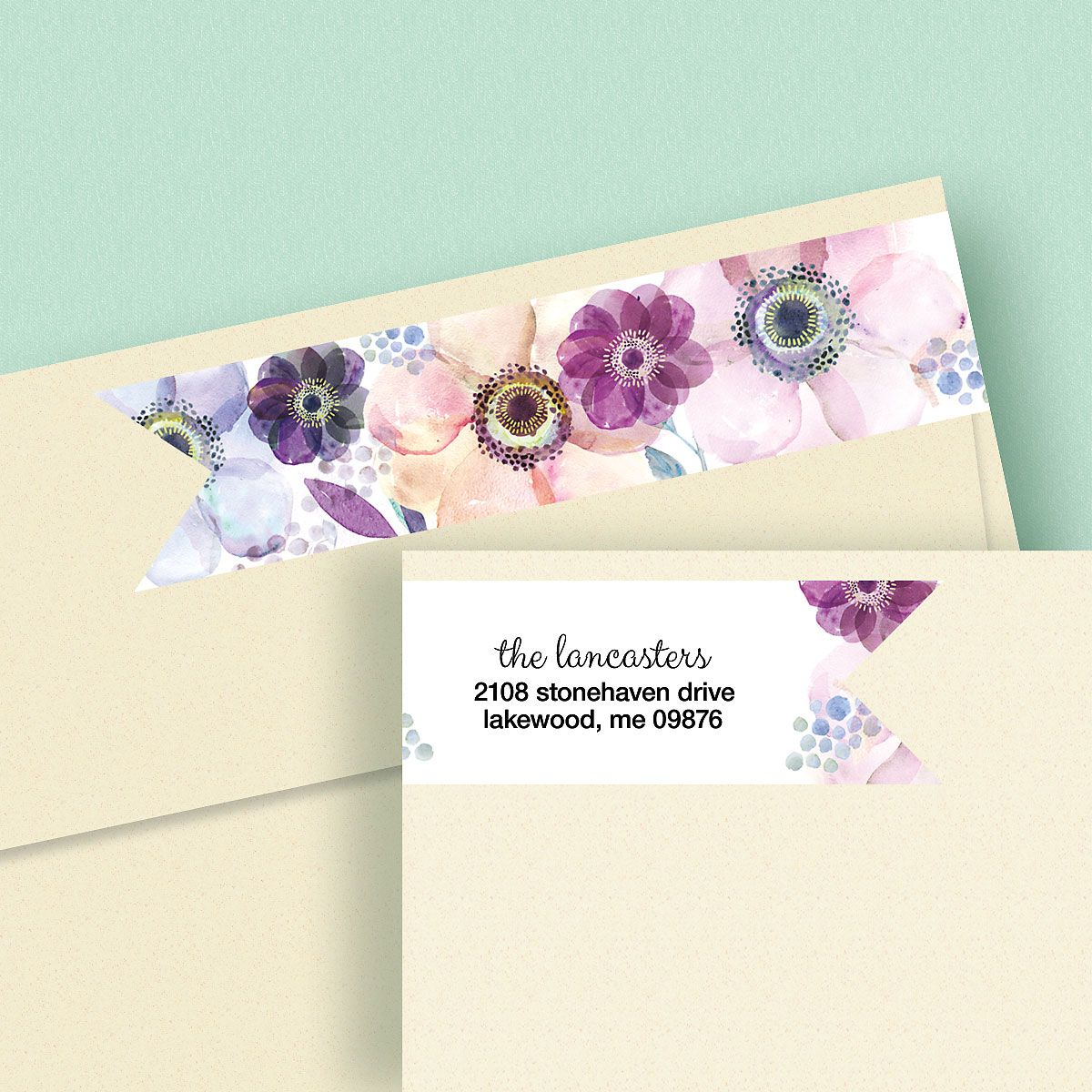 Days of Beauty Wrap Around Address Labels