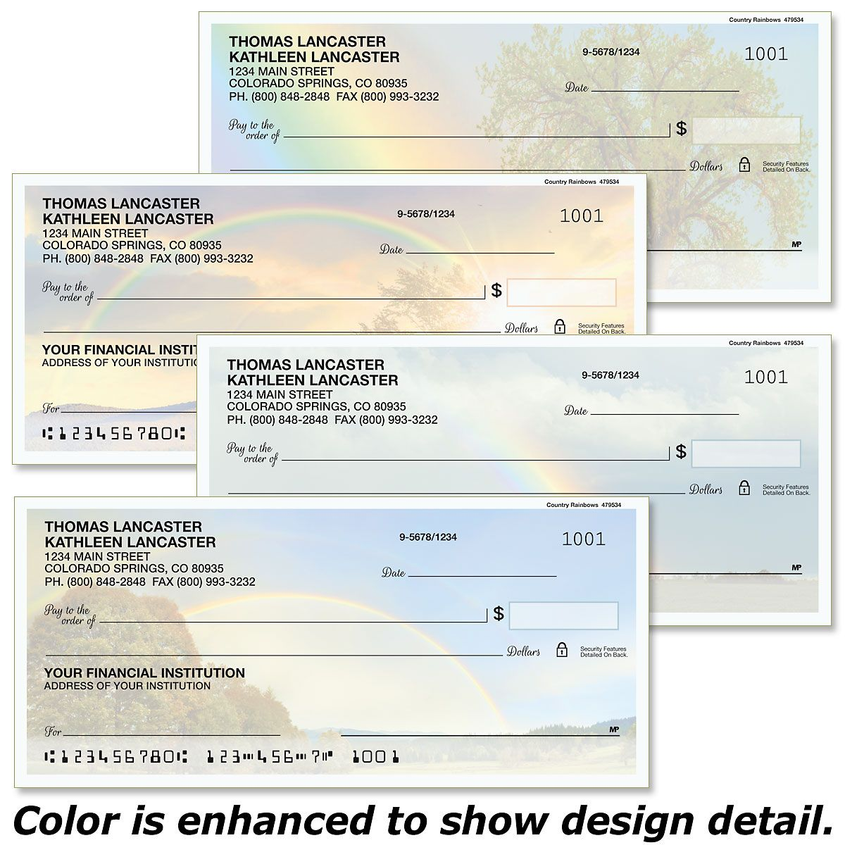 Country Rainbows Duplicate Checks
