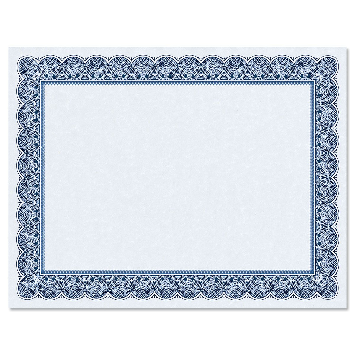 Elite Blue Certificate on Blue Parchment - Set of 25