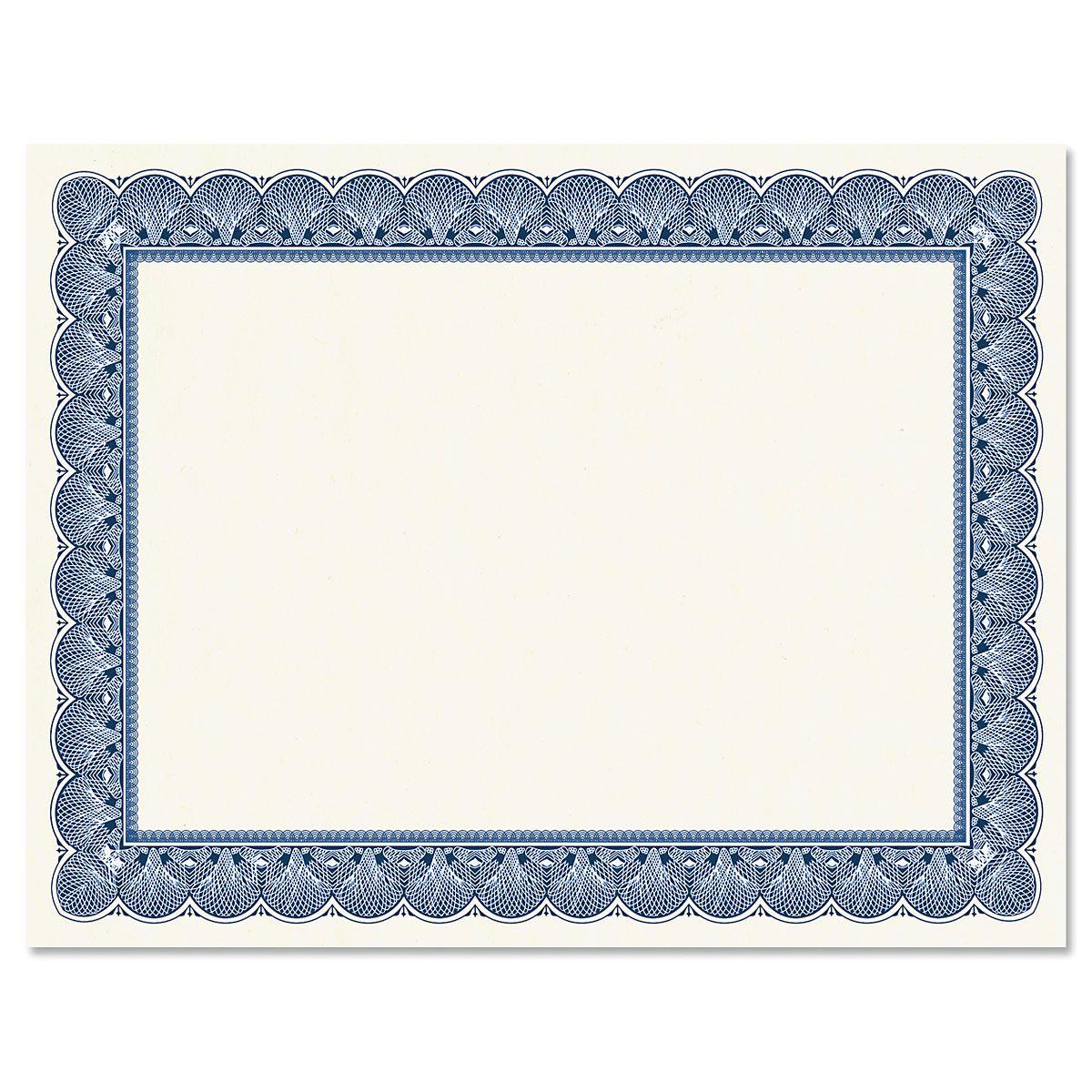Elite Blue Certificate on White Parchment