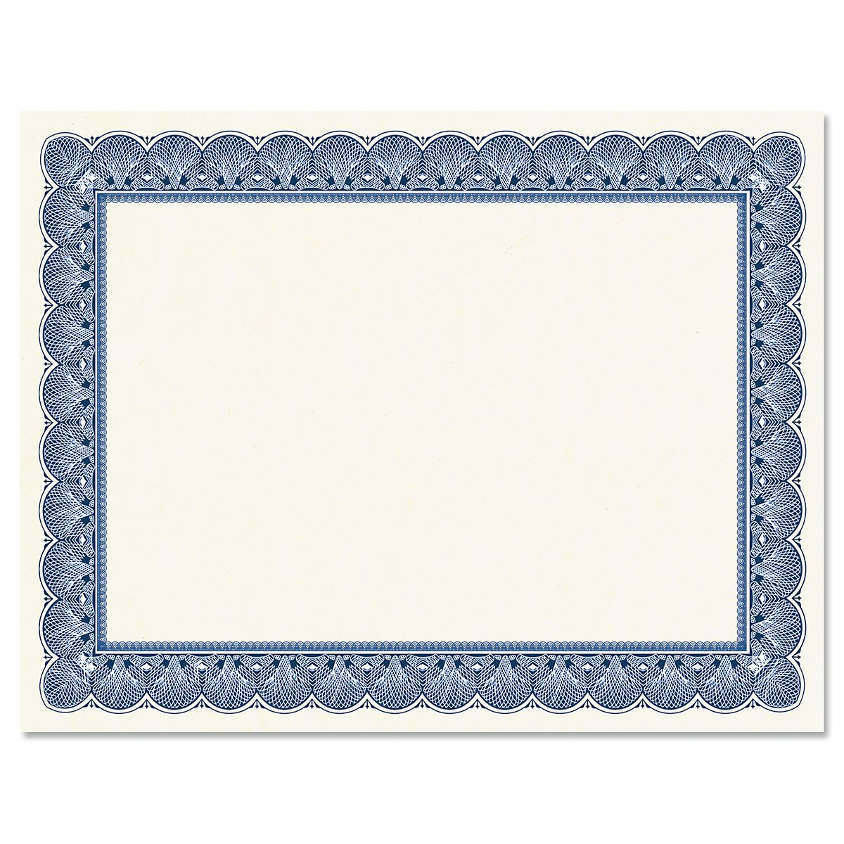 Elite Blue Certificate on White Parchment - Set of 25