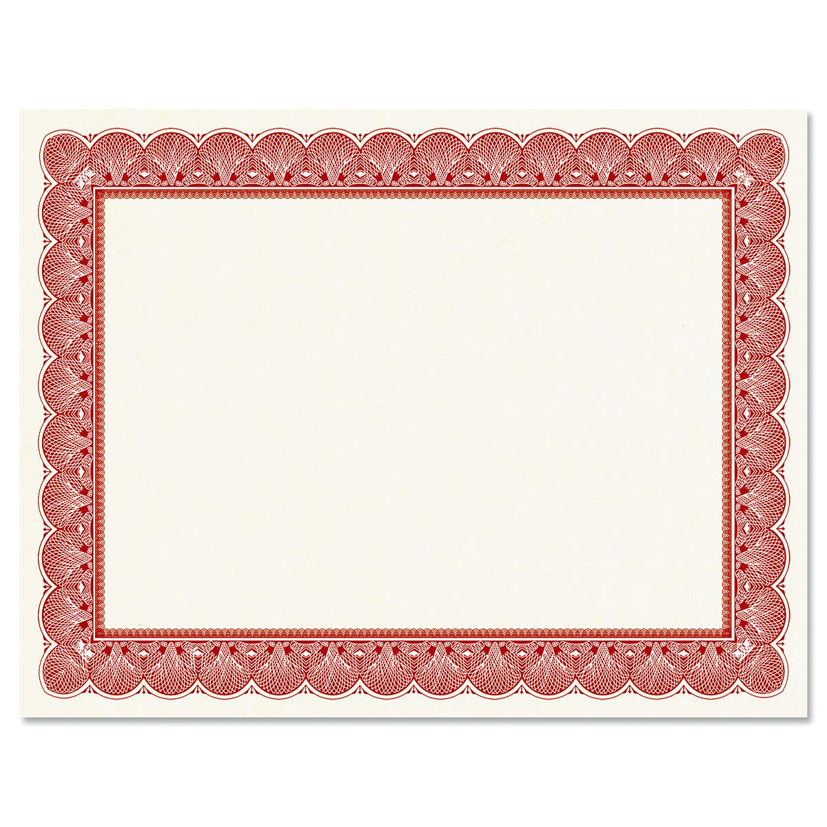Elite Red Certificate on White Parchment