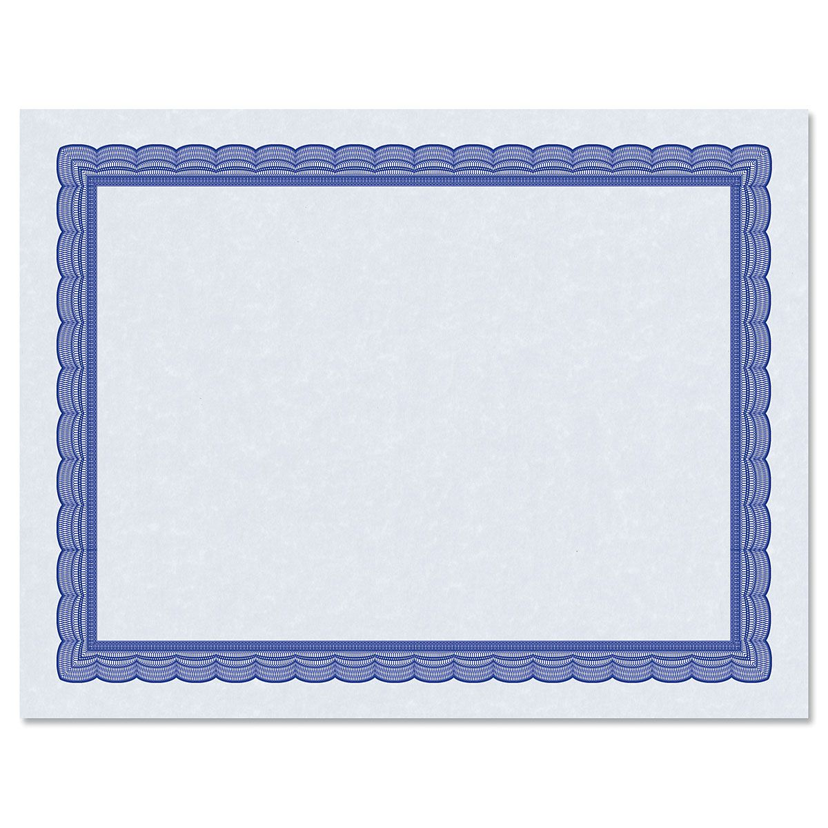 Executive Blue Certificate on Blue Parchment