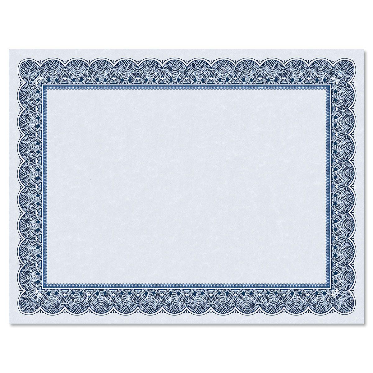 Elite Blue Certificate on Blue Parchment