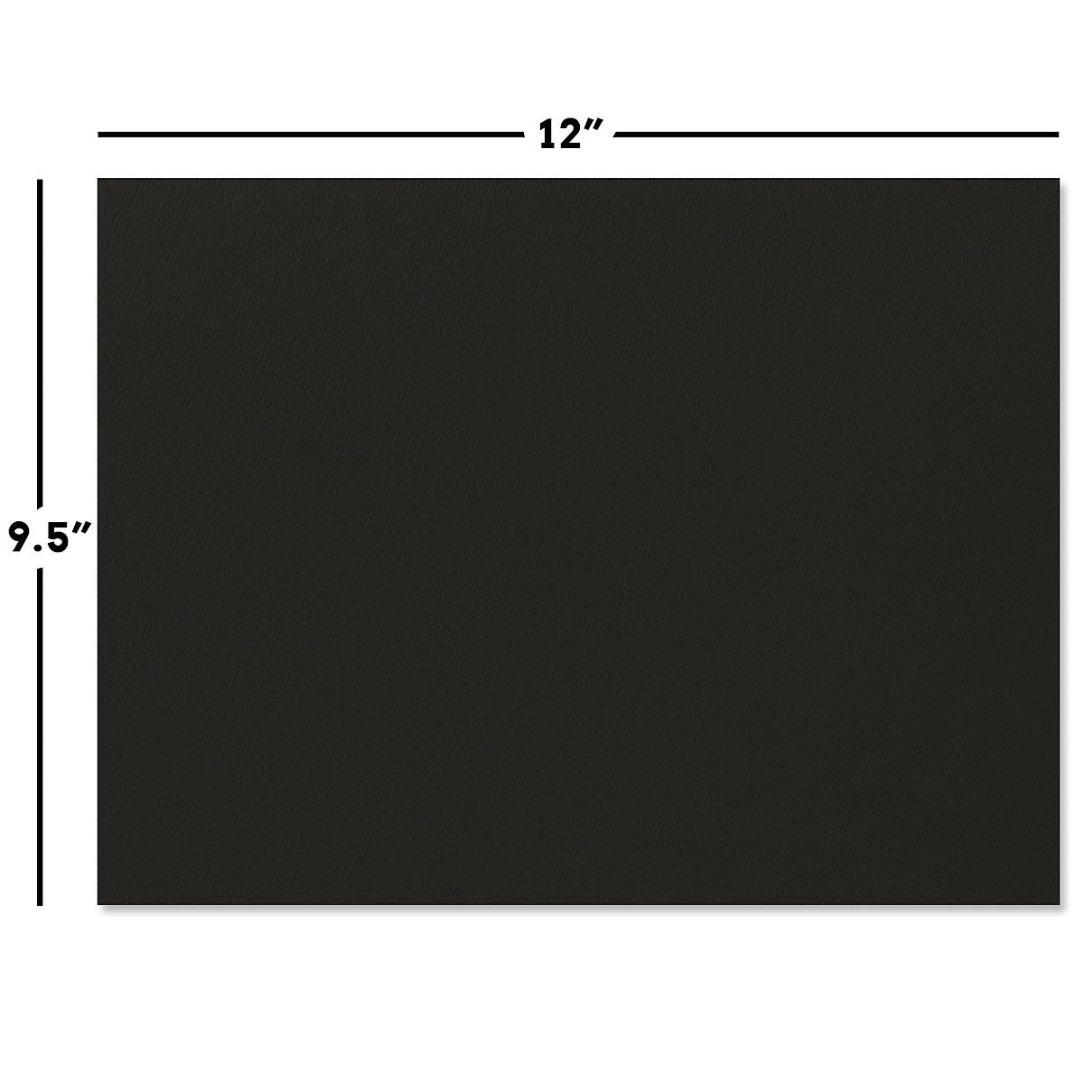 Plain Black Certificate Folder